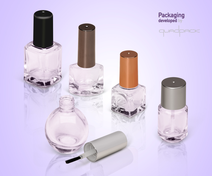 Quadpack introduces the ultimate glass nail bottle collection